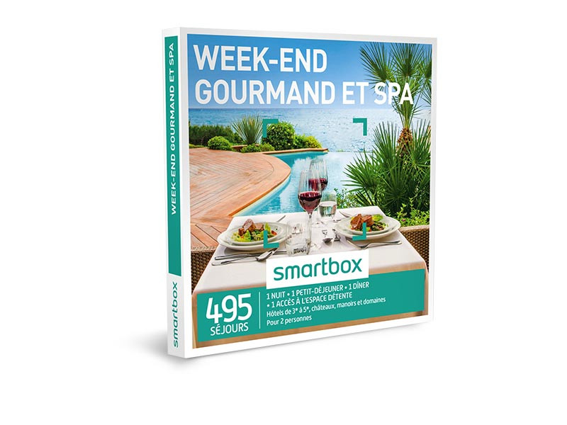 coffret cadeau week end gourmand et spa smartbox. Black Bedroom Furniture Sets. Home Design Ideas