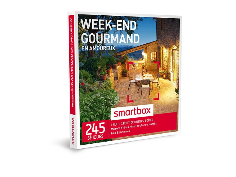 smartbox week end gourmand en amoureux coffret cadeau s jour ebay. Black Bedroom Furniture Sets. Home Design Ideas