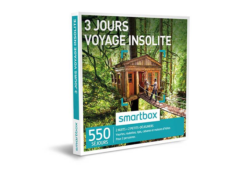 coffret cadeau 3 jours voyage insolite smartbox. Black Bedroom Furniture Sets. Home Design Ideas