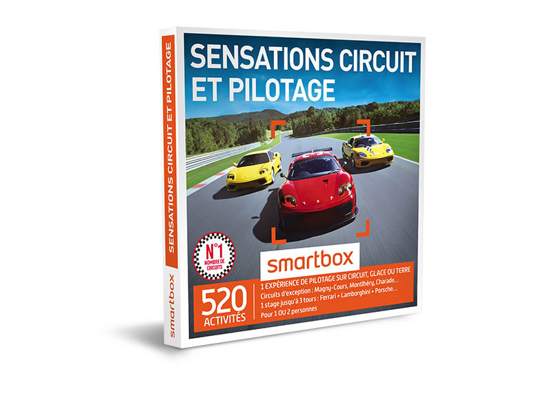 coffret cadeau sensations circuit et pilotage smartbox