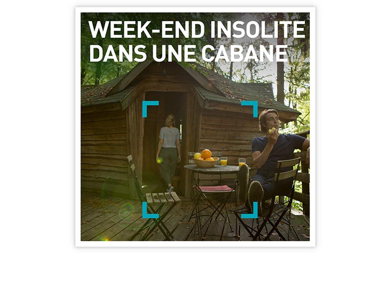 coffret cadeau week end insolite dans une cabane smartbox. Black Bedroom Furniture Sets. Home Design Ideas