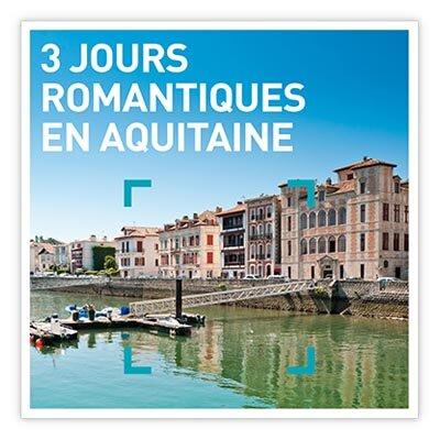 Coffret Cadeau 3 jours romantiques en Aquitaine