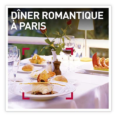 Coffret Cadeau Dîner romantique à Paris