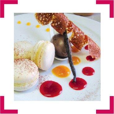 Visuel dessert gastronomique