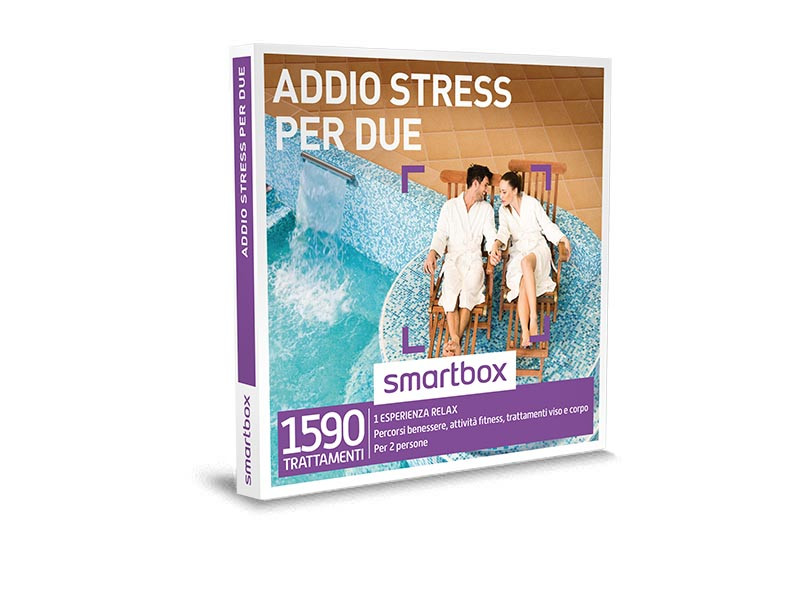 Smartbox offerta addio streess per 2 gratis con ordine di 99€