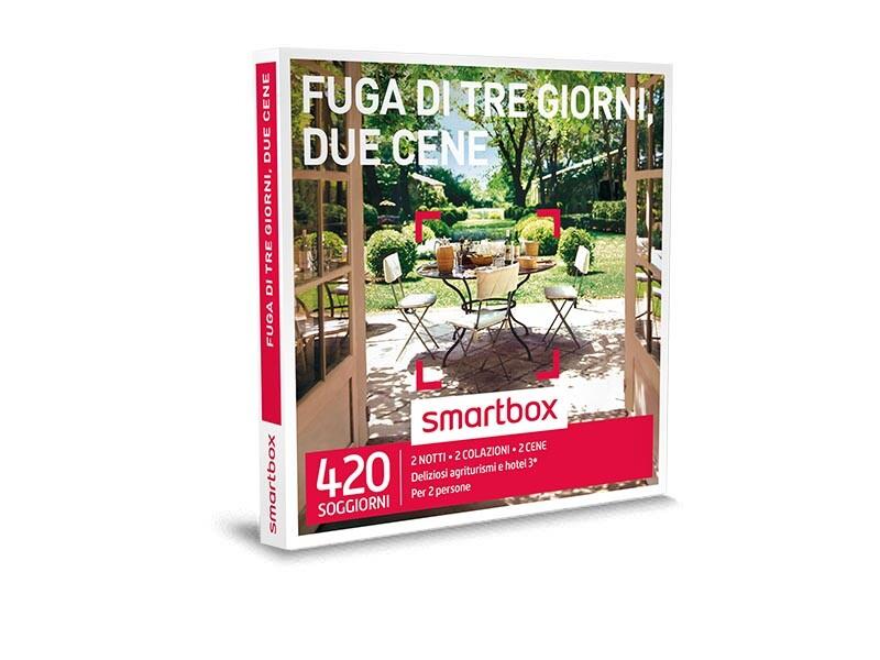 cofanetto regalo fuga di tre giorni due cene smartbox On fuga di due notti smartbox