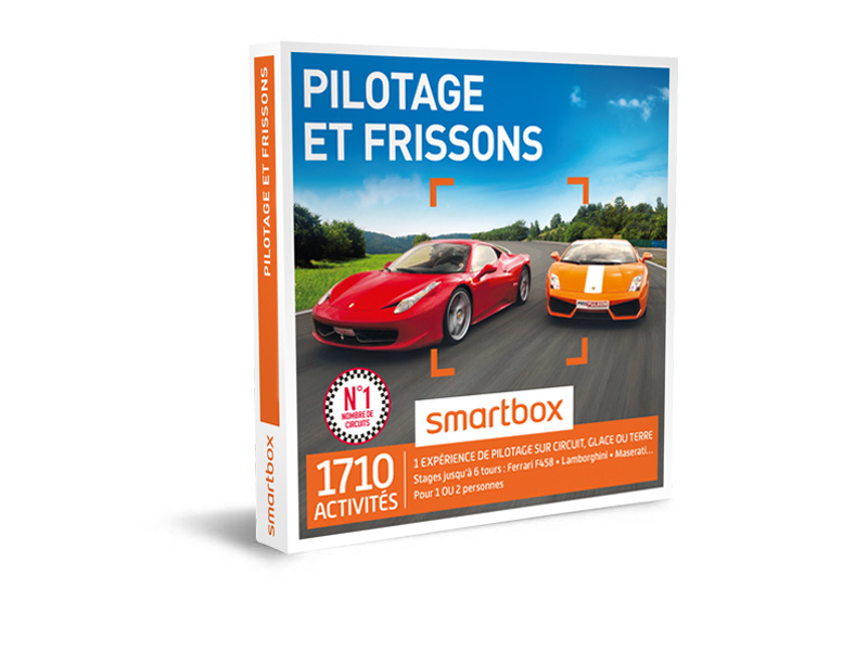 coffret cadeau pilotage et frissons smartbox. Black Bedroom Furniture Sets. Home Design Ideas