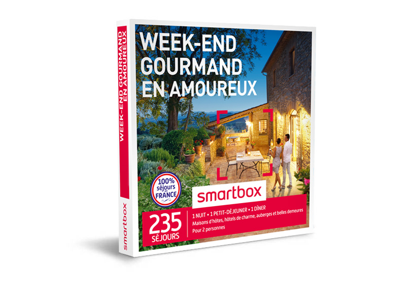 coffret cadeau week end gourmand en amoureux smartbox. Black Bedroom Furniture Sets. Home Design Ideas