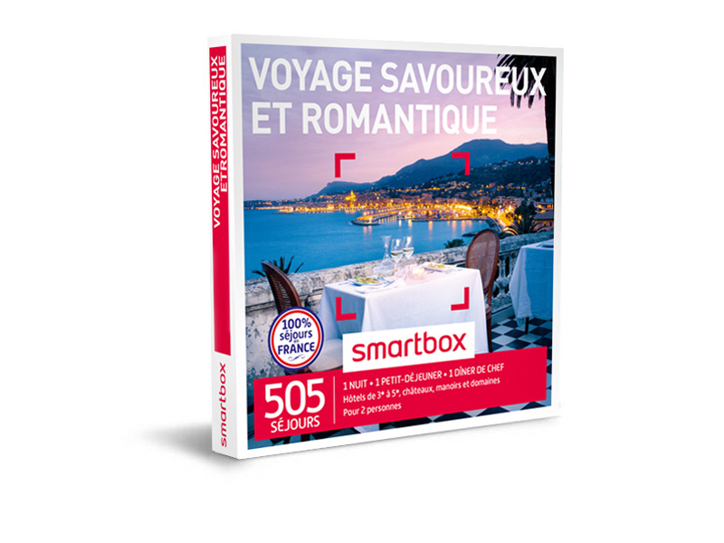 coffret cadeau voyage savoureux et romantique smartbox. Black Bedroom Furniture Sets. Home Design Ideas