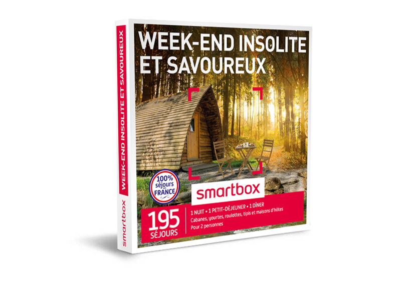 coffret cadeau week end insolite et savoureux smartbox. Black Bedroom Furniture Sets. Home Design Ideas