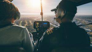émotions fortes lors d'un baptême en hélicoptère