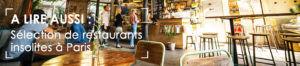 restaurants insolites à Paris