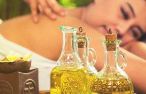 massage avec huile de sésame