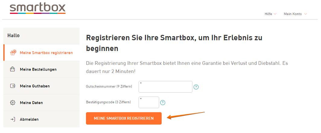 Smartbox registrieren