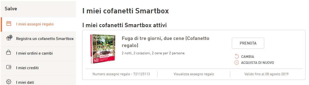 Domande frequenti e informazioni riguardo i cofanetti regalo - Smartbox