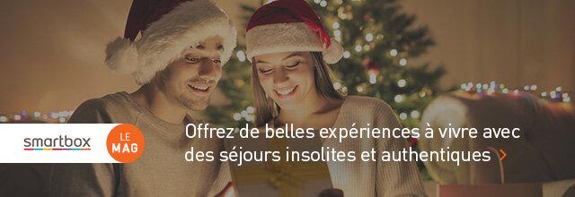 Idées cadeaux de Noël séjours pour couple