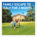 Family escape to Italy for 2 nights
