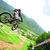 Downhill in mountain bike
