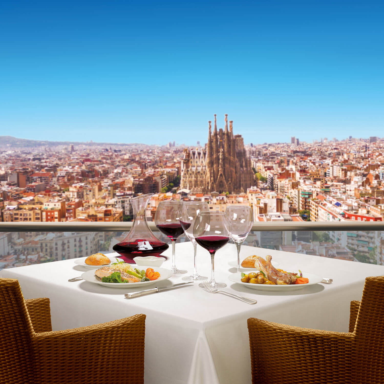 Cena exquisita en Barcelona