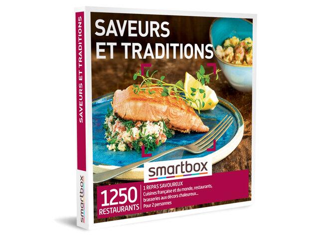 Coffret Cadeau Femme Homme 1 Repas pour 2 Personnes id/ée Cadeau Smartbox Saveurs et Traditions