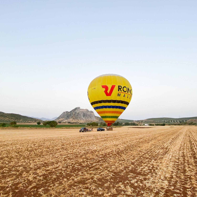 1 paseo en globo por el Aljarafe (1h), desayuno, cava y diploma