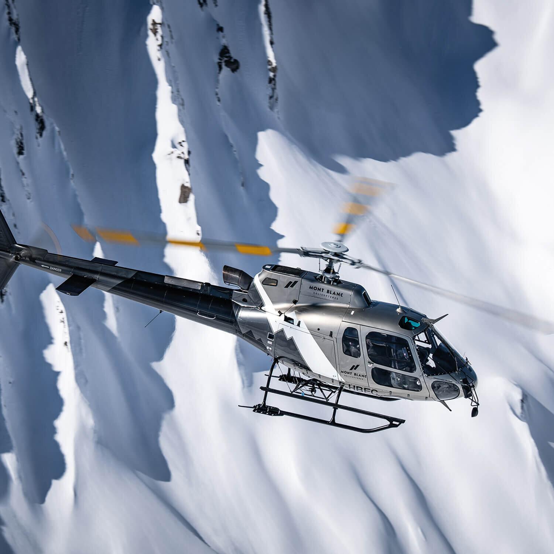 30 minutes de survol du mont Blanc en hélicoptère pour 2