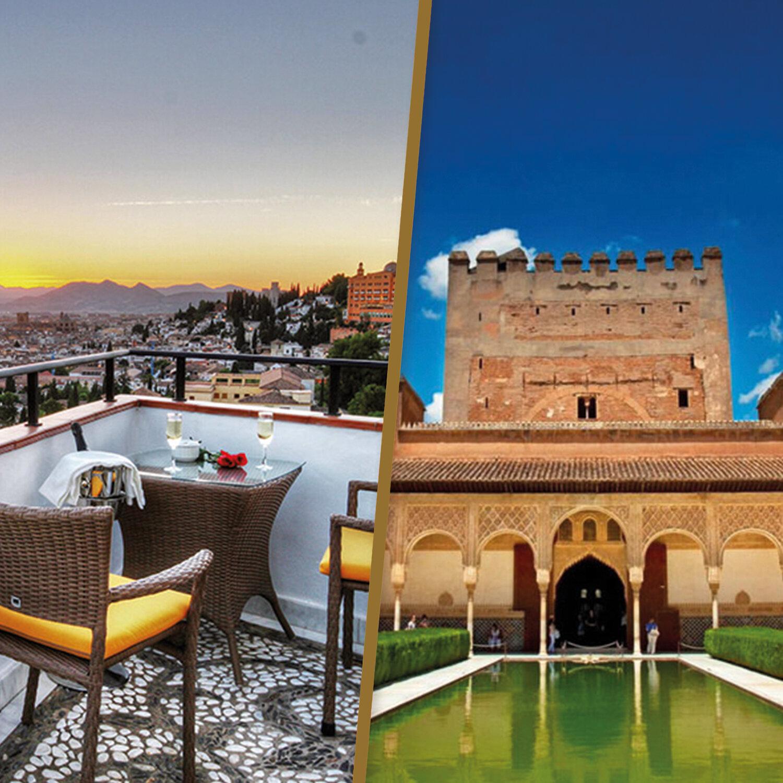 1 noche en Granada con visita a la Alhambra y los Palacios Nazaríes para 2 personas