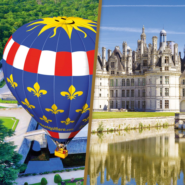 Séjour en Touraine avec vol en montgolfière d'1h à proximité des châteaux de la Loire