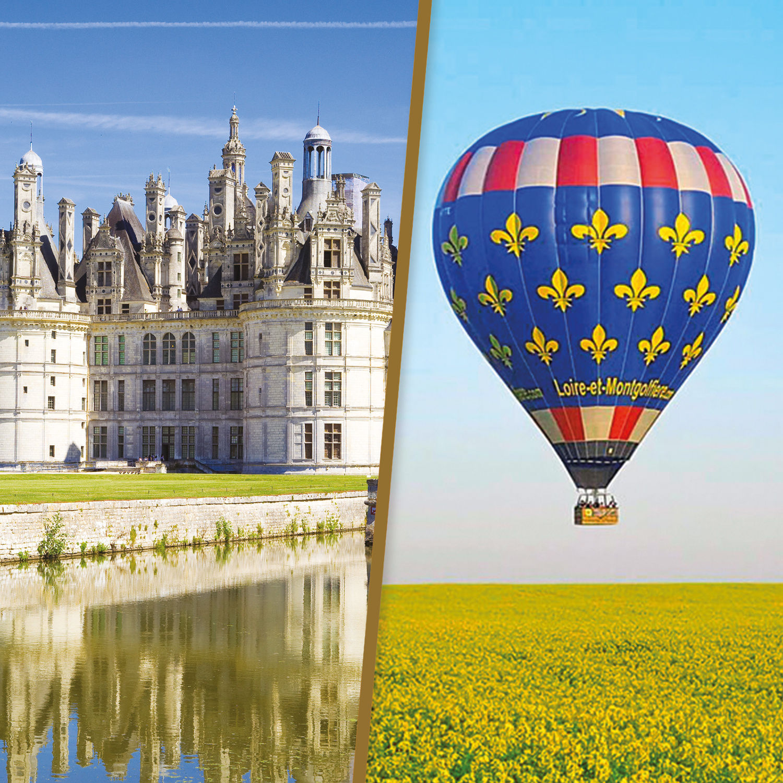 2 nuits en Touraine avec 1h de vol en montgolfière pour découvrir les châteaux de la Loire
