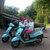 Balade à bord d'un scooter italien